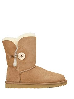 Ugg-Stivali Bailey Button in shearling chestnut