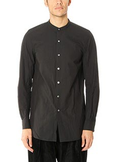 Attachment-Camicia in cotone nero