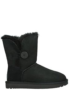 Ugg-Stivali Bailey Button in shearling nero