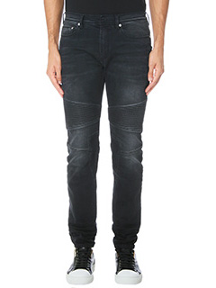 Neil Barrett-black denim jeans