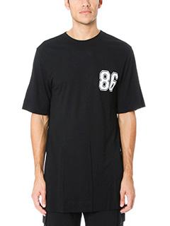 Helmut Lang-T-Shirt Oversize Varsity in cotone nero