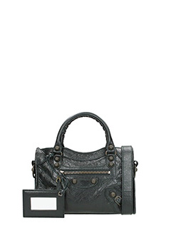 Balenciaga-Borsa Giant 12 Mini City in pelle nera