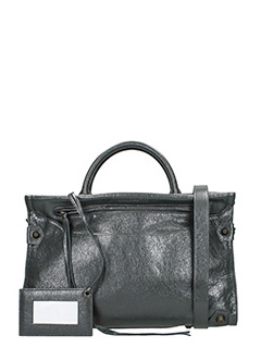 Balenciaga-Mute city aj grey leather bag