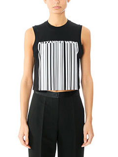 Alexander Wang-Top Crop in cotone nero