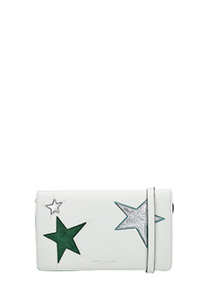 Marc Jacobs-Wallet strap white leather clutch