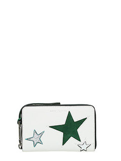 Marc Jacobs-Zip Phone  white leather wallet