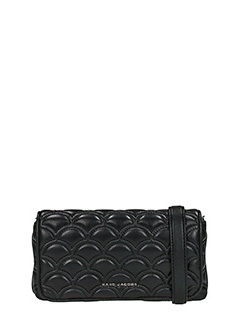 Marc Jacobs-Wallet on chain black leather clutch
