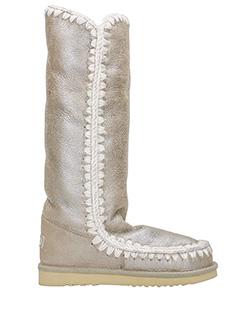 Mou-Stivali Eskimo 40 in shearling metallizzato beige