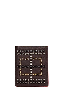 Christian Louboutin-Paros calf  brown leather wallet