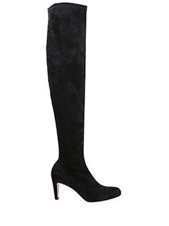 Christian Louboutin-Alta Top 70 black suede boots