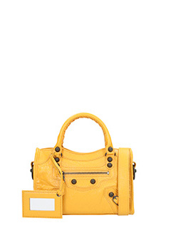 Balenciaga-Borsa Giant 12 Mini City in pelle gialla