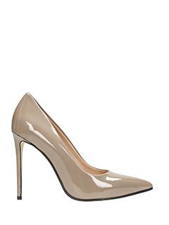 Marc Ellis-beige patent leather pumps