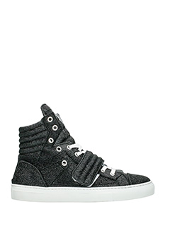 Gienchi-Sneakers Hypnos in tessuto glitter nero