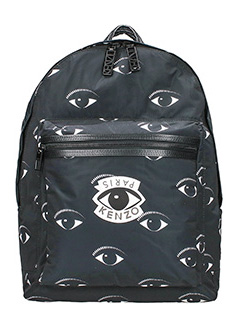 Kenzo-Zaino Eye All Over in nylon nero