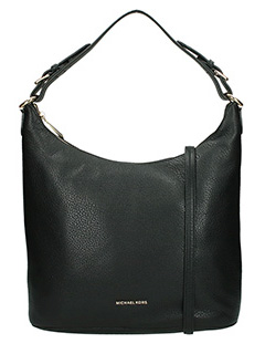 Michael Kors-Borsa Lupita Large Hobo bag in pelle martellata nera