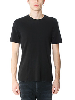 James Perse-T-Shirt Basic in cotone nero