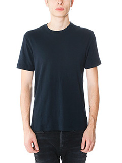 James Perse-T-Shirt Basic in cotone blue