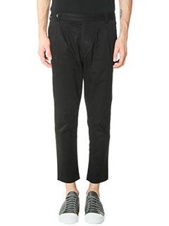 DonVich-Pantaloni Sarto in cotone nero