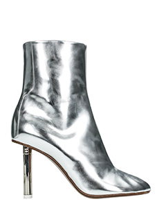 Vetements-silver leather ankle boots