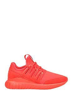 Adidas-Sneakers Tubular Radial in nylon rosso