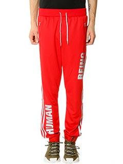 Adidas-Pantaloni Hr Track Pant Adidas for Pharrell in tessuto tecnico ross