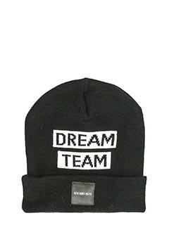 Les Artist-Cappello Patch Dream Team  in lana nera