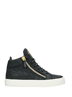 Giuseppe Zanotti-black leather sneakers