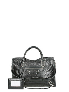 Balenciaga-Mini city sa j black leather bag