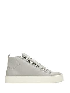 Balenciaga-Holiday high grey leather sneakers