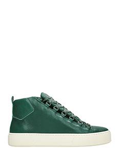 Balenciaga-Sneakers Holiday High in pelle verde