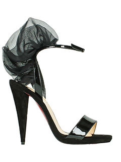 Christian Louboutin-Jacqueline 120 black suede and leather sandals
