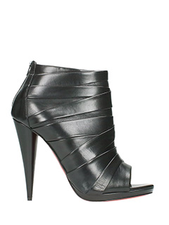 Christian Louboutin-Drapicone 120 black leather ankle boots