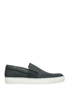 Lanvin-Sneakers Slip On  in pelle nera