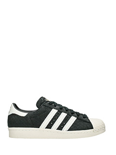 Adidas-Sneakers Superstar 80 S in pelle nera bianca