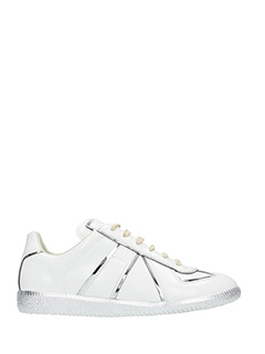 Maison Margiela-Replica white leather sneakers
