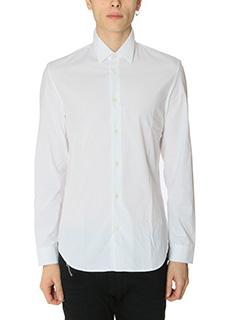 Maison Margiela-Camicia in cotone bianco