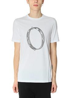 Maison Margiela-T-Shirt in cotone bianco