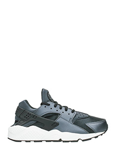 Nike-Sneakers Huarache Run in pelle metallic nera