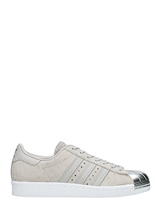 Adidas-Superstar 80s  grey suede sneakers