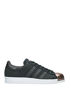 Adidas-Superstar 80s  black suede sneakers