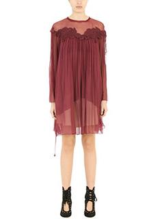 Chloé-Vestito in seta bordeaux