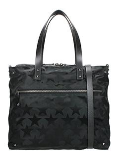 Valentino-Shopping Bag Camustars in tessuto nero