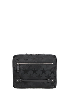 Valentino-Pochette Camustars in nylon nero