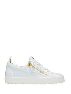 Giuseppe Zanotti-Sneakers  Kriss in pelle e vernice  bianca