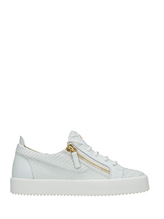 Giuseppe Zanotti-Sneakers Nicki in pelle bianca