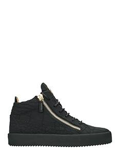 Giuseppe Zanotti-Sneakers Kriss Mid in pelle nera
