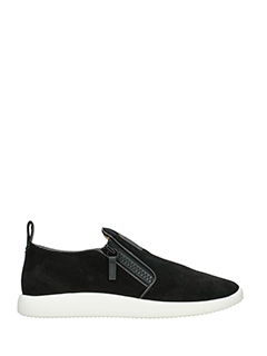 Giuseppe Zanotti-Sneakers Runner  in camoscio nero