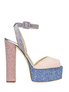 Giuseppe Zanotti-Sandali Lavinia in glitter rosa azzurro