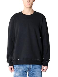 Valentino-black cotton sweatshirt