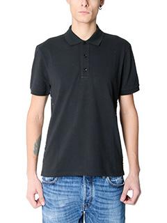 Valentino-black cotton polo
